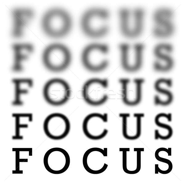 Enfoque tabla escala palabra diferente aislado Foto stock © ArenaCreative