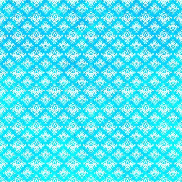 Azul damasco patrón grunge texturas moda Foto stock © ArenaCreative