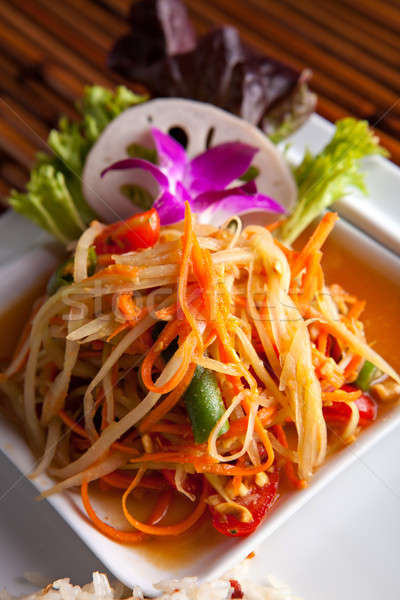 Som Tum Papaya Salad Stock photo © arenacreative