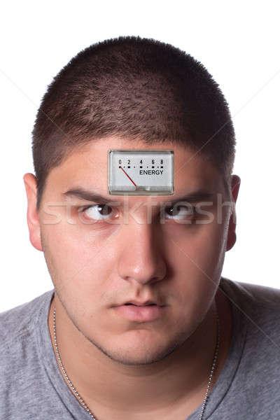 низкий энергии человека изображение молодым человеком лоб Сток-фото © ArenaCreative
