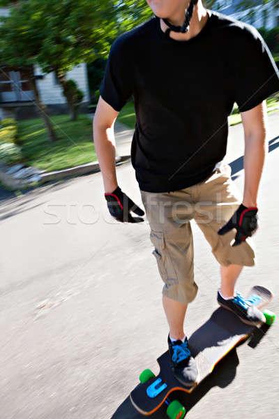 Teen Longboarding Stock photo © arenacreative