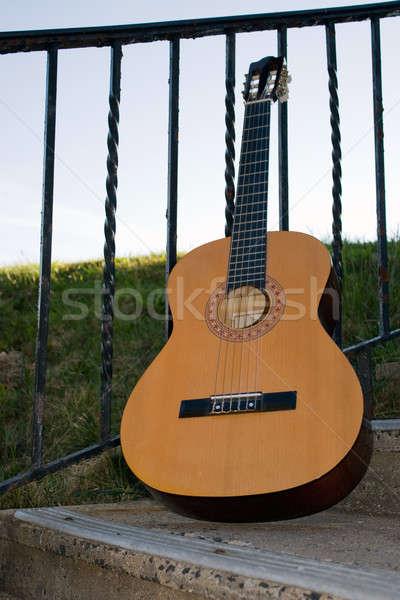 Chitarra acustica up esterna erba Foto d'archivio © ArenaCreative