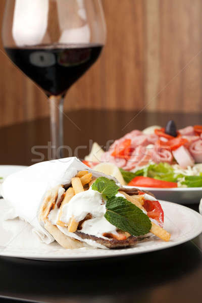 Gyro Pita Wrap Stock photo © ArenaCreative