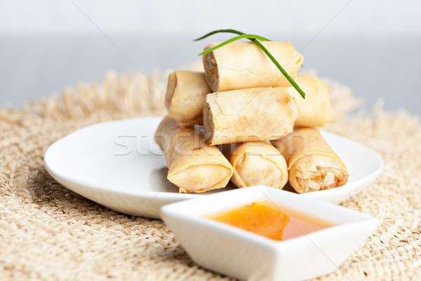 Thai Spring Roll Appetizers Stock photo © arenacreative