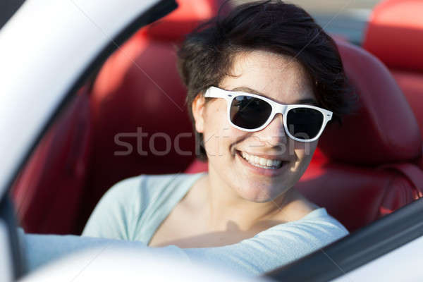 Woman Driving a Convertible Stock photo © arenacreative