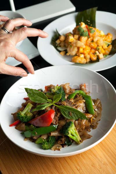 Thai étel stylist étel edény édes bazsalikom Stock fotó © arenacreative