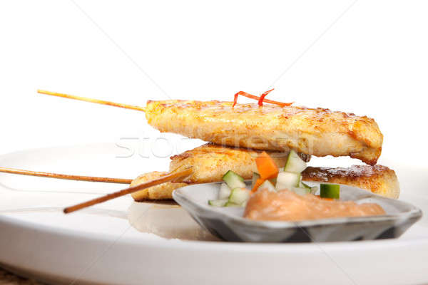 Chicken Satay Thai Appetizer Stock photo © ArenaCreative