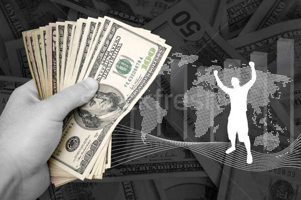 Winstgevend business succes cash geïsoleerd financieren Stockfoto © ArenaCreative