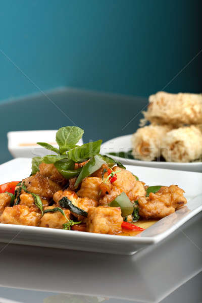 тайская еда риса свежие блюдо Тофу Сток-фото © ArenaCreative