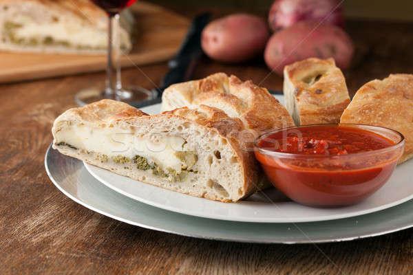 Fresh Sliced Stromboli Stuffed Bread Stock photo © arenacreative