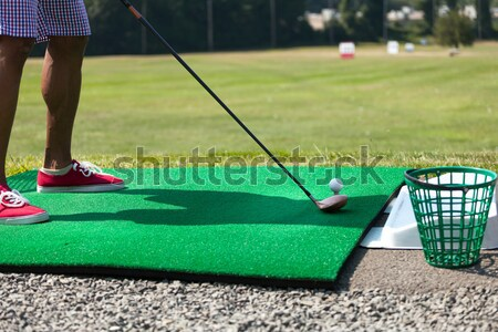 Driving Range Golf Practice Stock photo © arenacreative