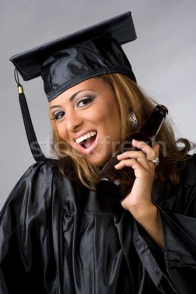 Happy Graduate Partying Stock photo © ArenaCreative