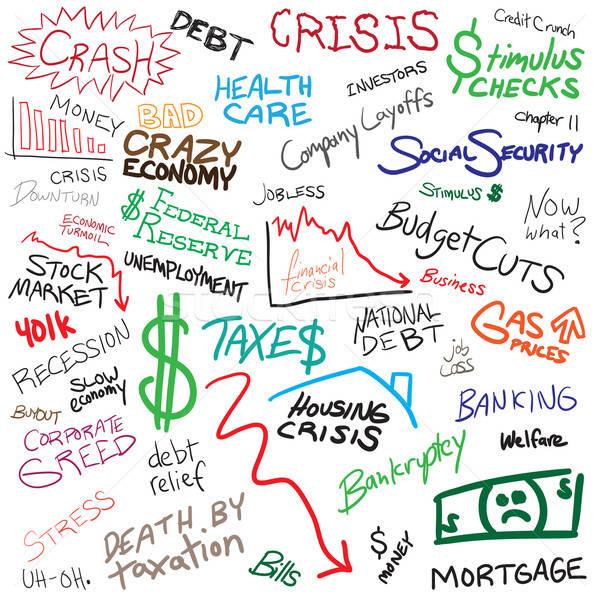 Economy Doodles Stock photo © ArenaCreative