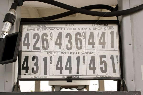 высокий газ цены АЗС знак Сток-фото © ArenaCreative