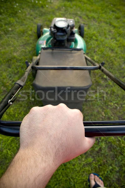 Pushing the Lawn Mower Stock photo © ArenaCreative