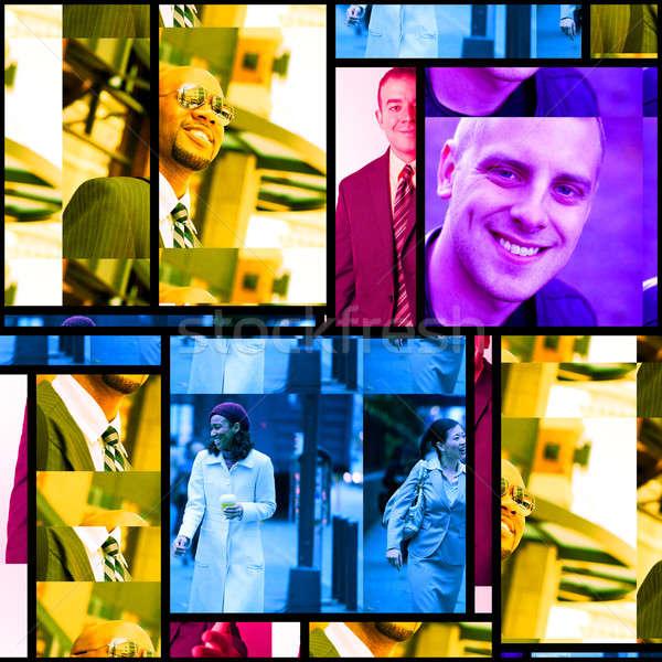 Zakenlieden montage variëteit portretten collage business Stockfoto © arenacreative