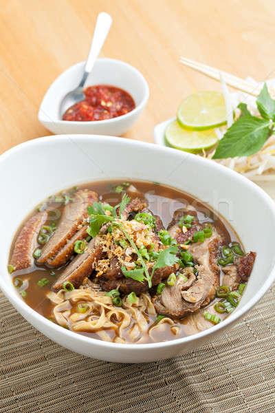 Tajska stylu zupa kaczka ryżu Zdjęcia stock © arenacreative