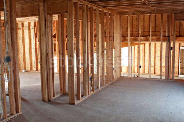 New Construction Framing Interior Stock photo © ArenaCreative