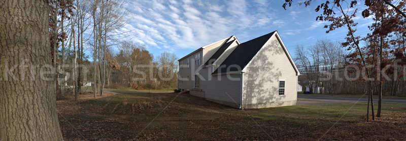 Stockfoto: Huis · panorama · moderne · gewoonte · woon-