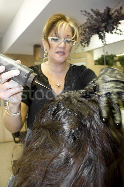 Hairdresser with Client Stock photo © ArenaCreative