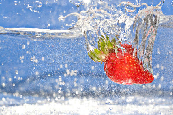 Strawberry Splash Stock photo © ArenaCreative