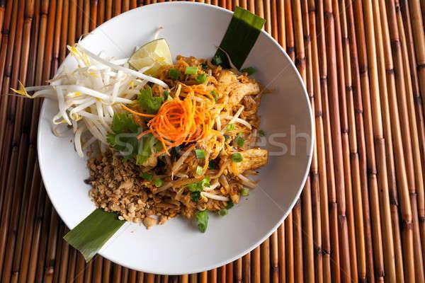 Chicken Pad Thai Plate Stock photo © arenacreative