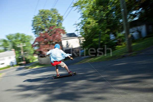 Száguld korcsolyázás városi út bemozdulás zsákmányolás Stock fotó © arenacreative