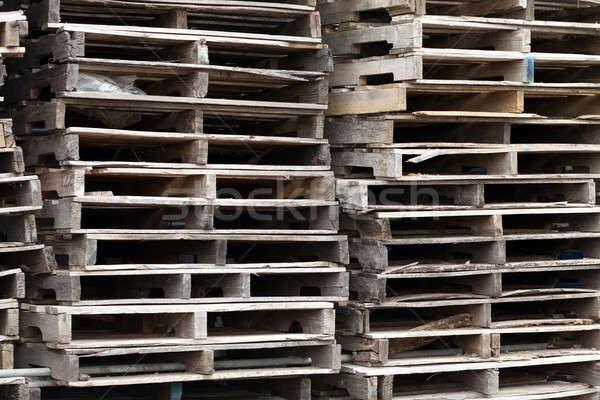 Wooden Skid Pallets Stock photo © arenacreative