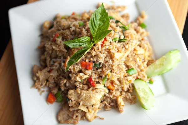 Thai Fried Rice with Chicken Stock photo © arenacreative