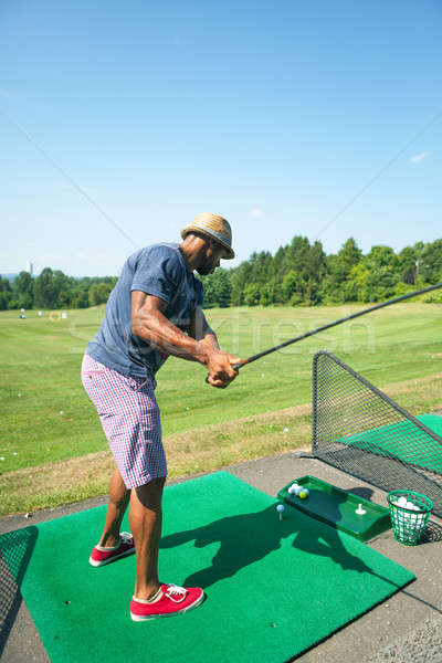 Golf Practice at the Driving Range Stock photo © arenacreative