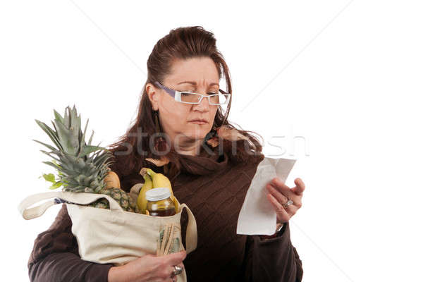 Grocery Shopper Counting Costs Stock photo © ArenaCreative