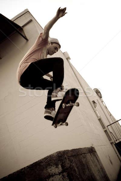 Skateboarding Jump Stock photo © ArenaCreative