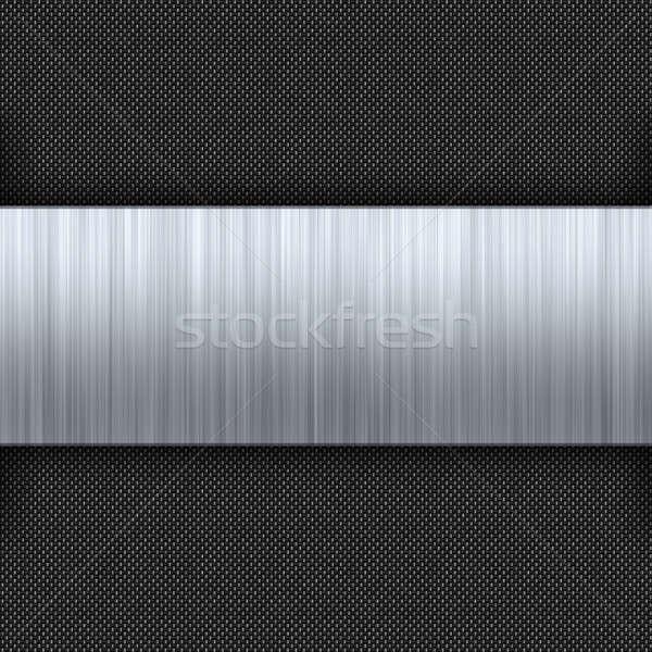 Brushed Metal Carbon Fiber Stock photo © ArenaCreative