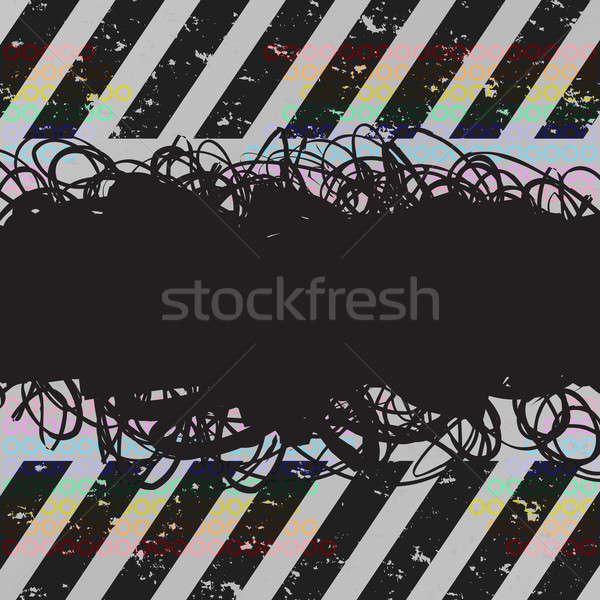 Grunge layout frame pericolo proprio Foto d'archivio © ArenaCreative