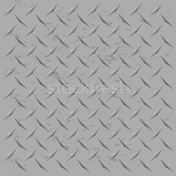 Worn Diamond Plate Vector Stock photo © ArenaCreative