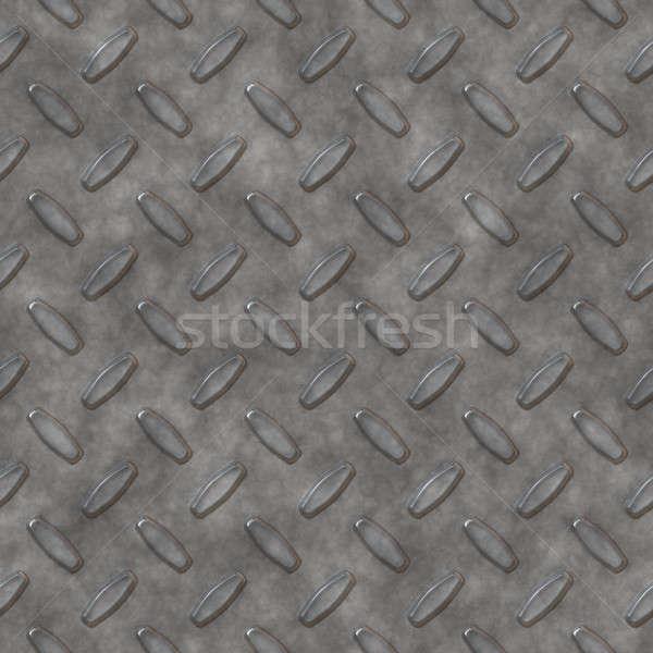 Zilver diamant plaat staal patroon kan Stockfoto © ArenaCreative