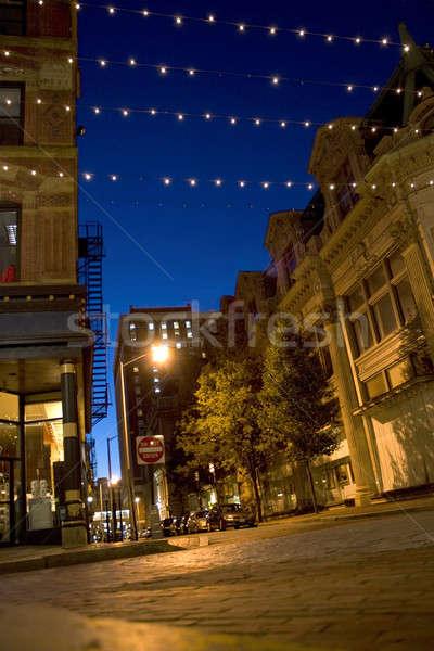 şehir sokaklarda şehir merkezinde Rhode Island soyut Stok fotoğraf © ArenaCreative