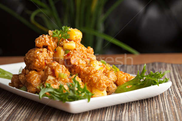 Thai frit apéritif fraîches ananas dîner Photo stock © ArenaCreative