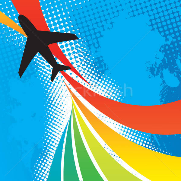 Airplane Travel Abstract Stock photo © ArenaCreative