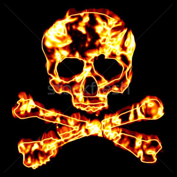 Fiery Skull and Crossbones Stock photo © ArenaCreative