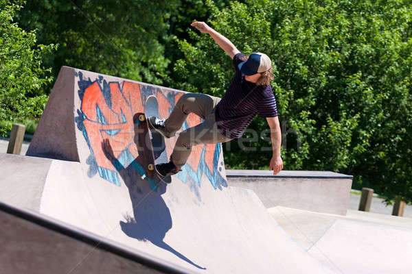 Skater Riding a Skate Ramp Stock photo © ArenaCreative