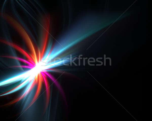 синий фрактальный плазмы фон аннотация Сток-фото © ArenaCreative