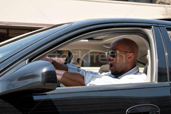вождения дороги ярость деловой человек автомобилей Сток-фото © ArenaCreative