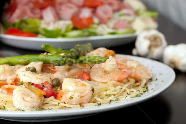 Shrimp Scampi Dish Stock photo © ArenaCreative