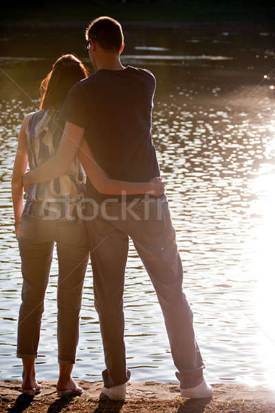 Outdoor Couple Silhouette Stock photo © ArenaCreative
