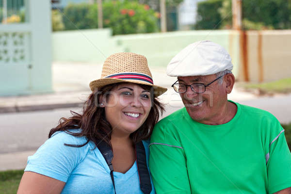 Hispanic Woman with Her Grandfather Stock photo © ArenaCreative