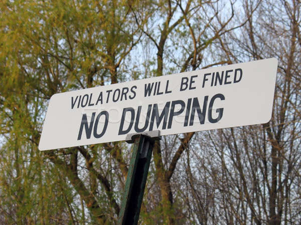 no dumping sign Stock photo © ArenaCreative
