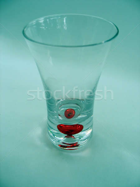 Unico shot vetro isolato rosso bolla Foto d'archivio © ArenaCreative