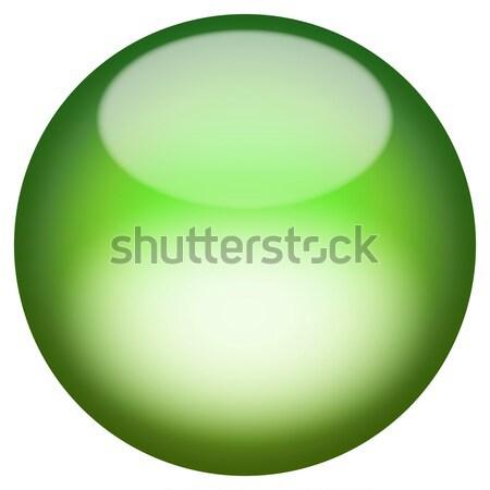 Vitreux 3D bouton sphère isolé blanche Photo stock © ArenaCreative