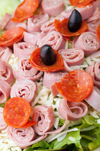 Antipasto Salad Closeup Stock photo © ArenaCreative